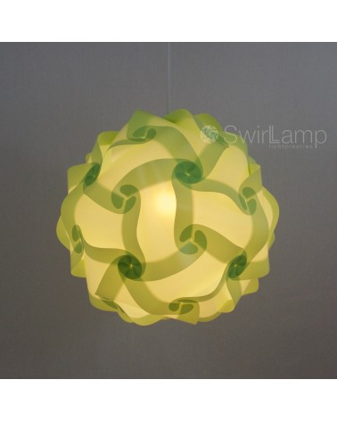 Swirlamp 42cm Lime lampshade