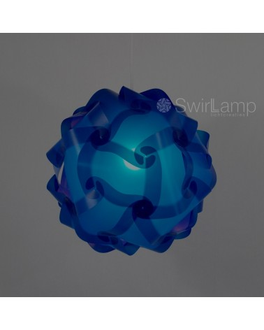 Swirlamp 42cm Dark blue lampshade