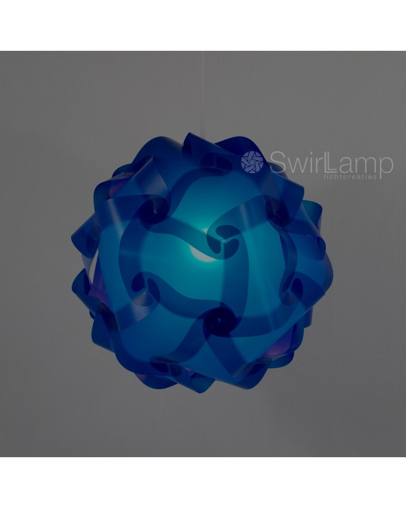 Swirlamp 42cm dark blue