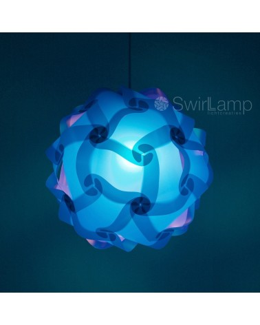 Swirlamp 42cm dark blue