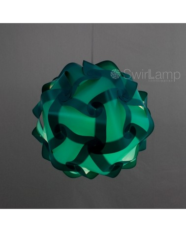 Swirlamp 42cm Petrol lampenkap
