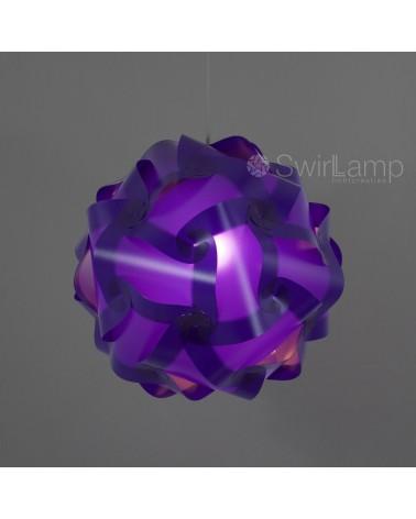 Swirlamp 42cm Purple lampshade