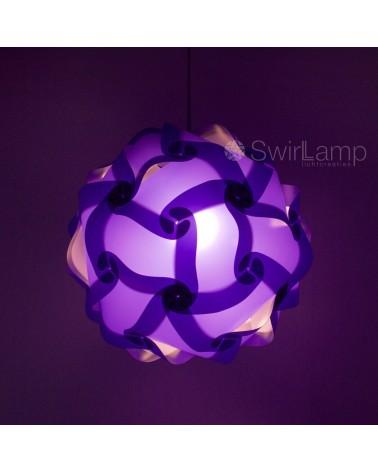 Swirlamp 42cm Paars