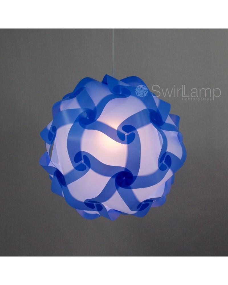 Swirlamp 42cm Lichtblauw