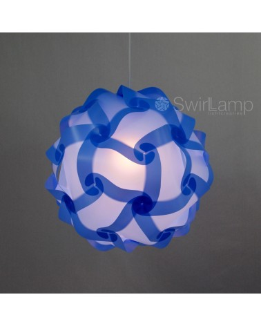 Swirlamp 42cm Light blue lampshade