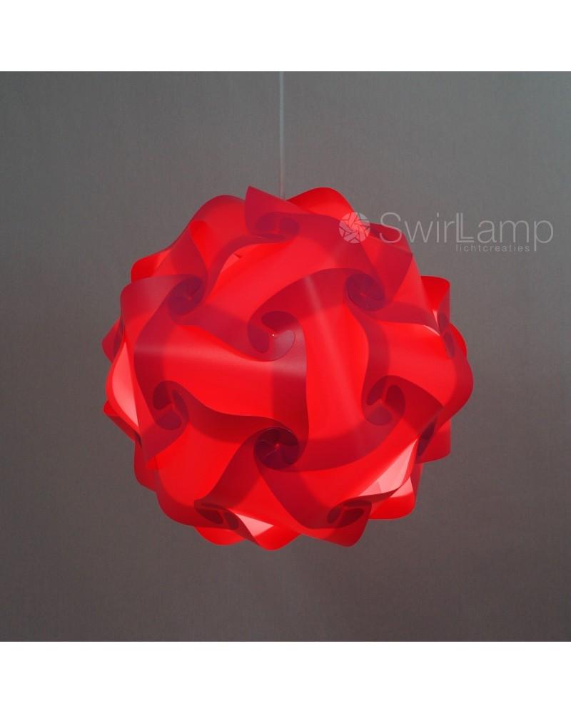 Swirlamp 42cm Roze