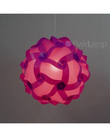 Swirlamp 42cm Lilac lampshade
