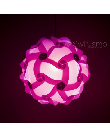 Swirlamp 42cm Lilac