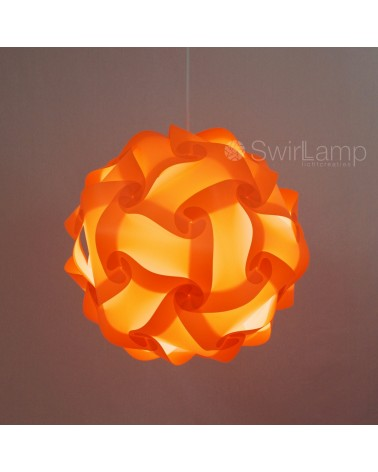 Swirlamp 42cm Orange lampshade