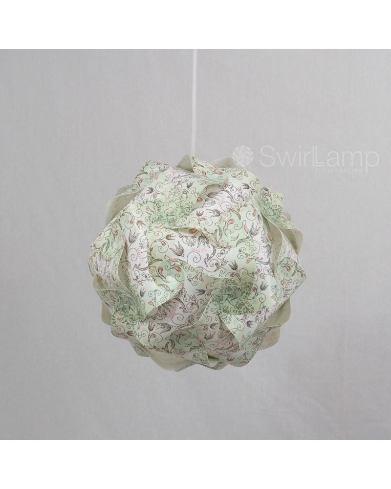 Swirlamp 30cm Green Flowers