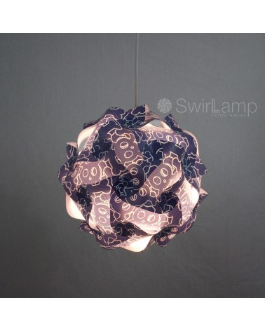 Swirlamp 30cm Skull