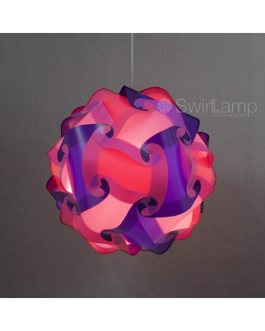 Swirlamp 42cm Paars/Lavendel/Roze