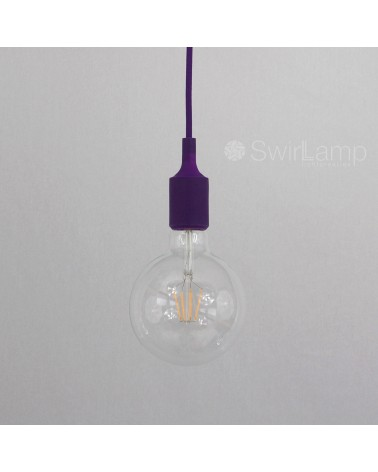 Hanglamp siliconen fitting E27 Paars