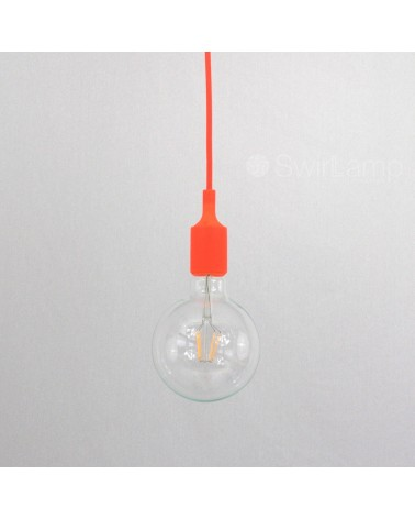 Hanglamp siliconen fitting E27 Oranje