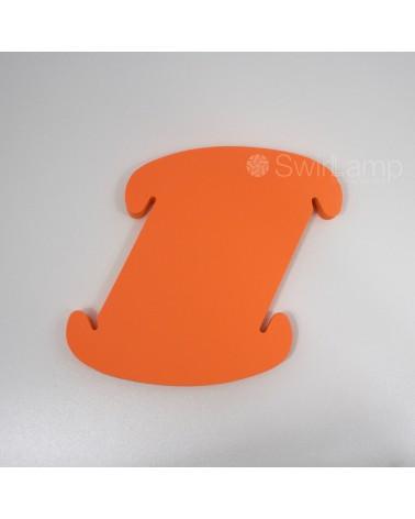 Swirlamp 42cm Oranje