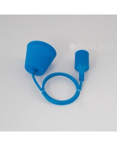 Pendel hanglamp siliconen fitting E27 Blauw