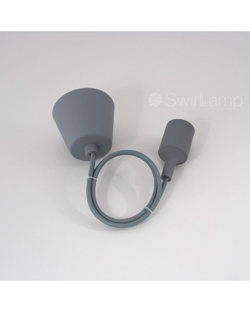 Hanglamp siliconen fitting E27 Grijs