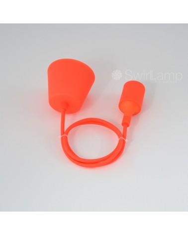 Pendel hanglamp siliconen fitting E27 Neon Oranje