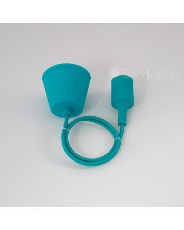 Pendel hanglamp siliconen fitting E27 Turquoise