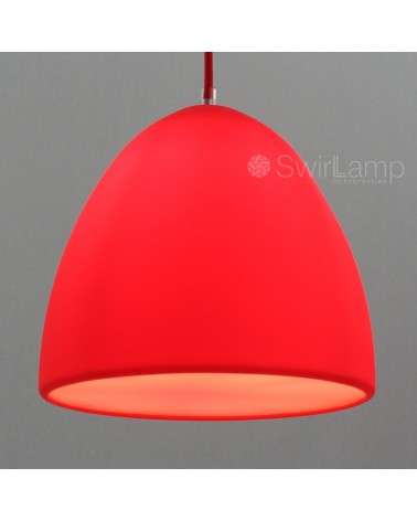 Eilamp Rood - rode siliconen hanglamp