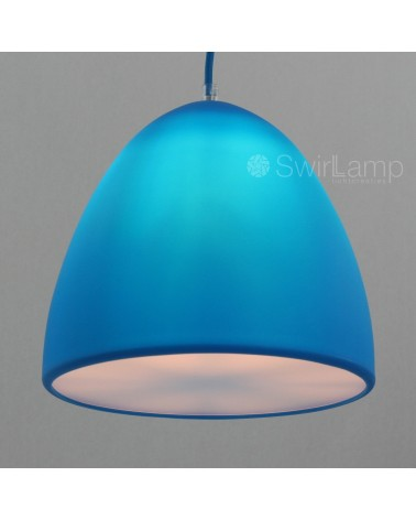Eilamp Blauw - blauwe siliconen hanglamp