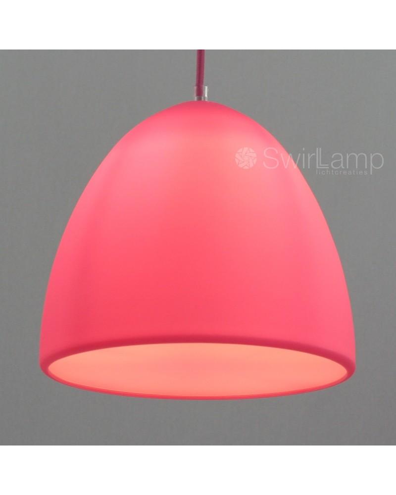 Eilamp Roze - roze siliconen hanglamp