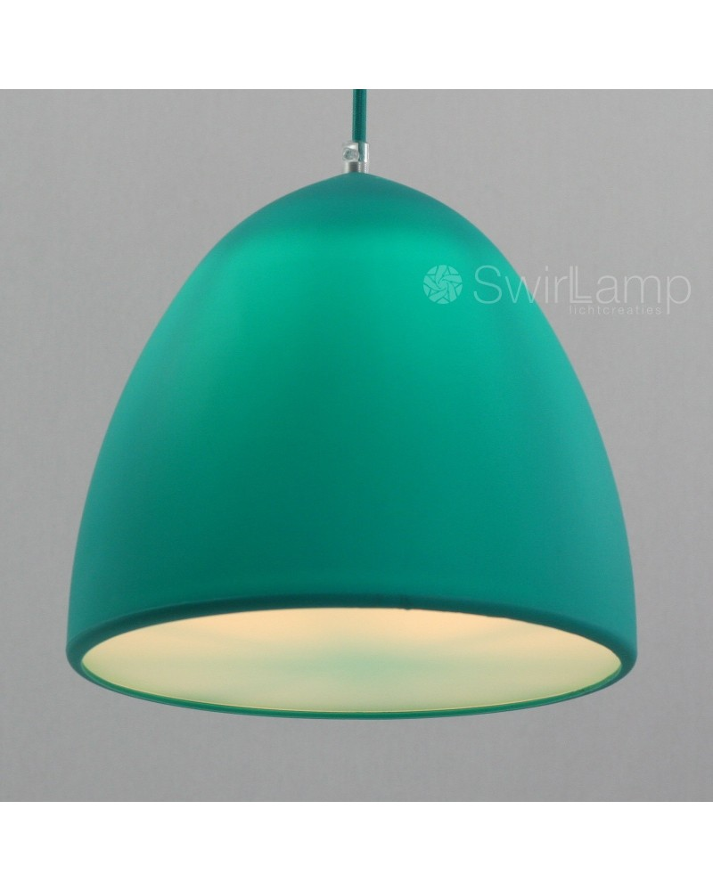 Eilamp Turquoise - turquoise siliconen hanglamp