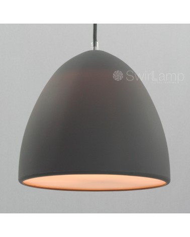 Egglamp grey -grey silicone pendant