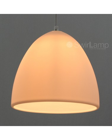 egglamp white - white silicone pendant