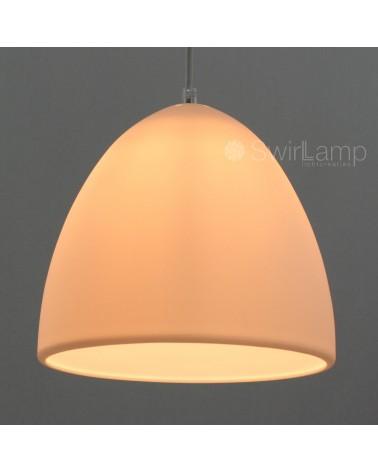 Eilamp Wit - witte lichtdoorlatende siliconen hanglamp