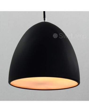 Eilamp Zwart - zwarte siliconen hanglamp