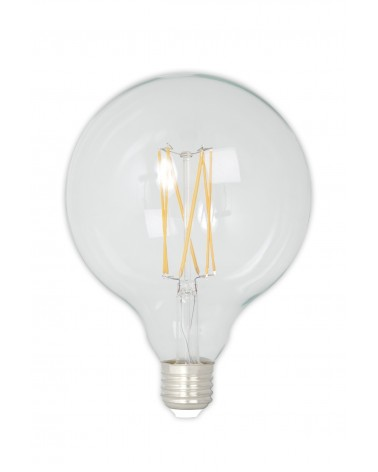 LED Dimmable Filament Globe Bulb 4W 350lm E27 GLB125 Carbon Filament Look