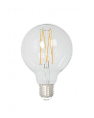 LED 4W Dimmable Filament Globe Bulb 350lm E27 GLB95 - Carbon Filament Look