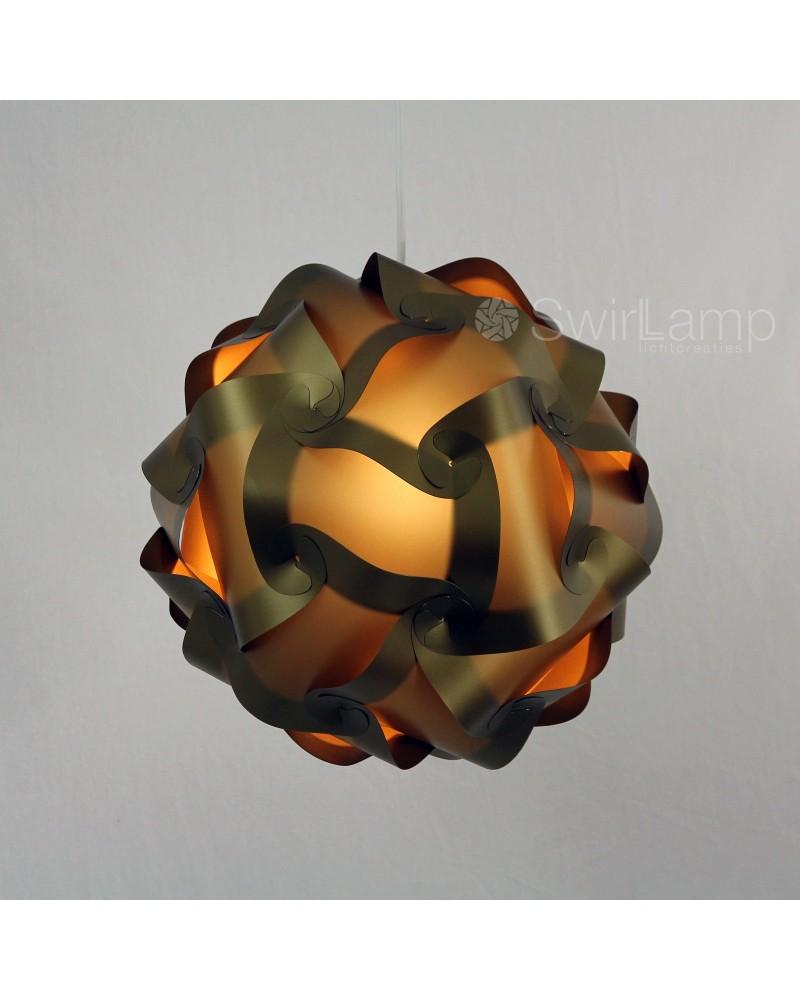 Swirlamp 42cm Dark Gold lampenkap