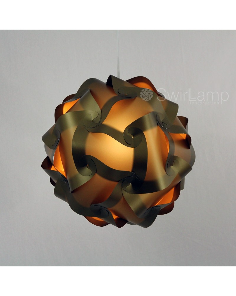 Swirlamp 42cm Dark Gold lampshade