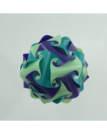 Swirlamp 42cm Petrol/Lime/Paars