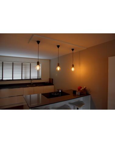 Hanglamp Beton Snoerpendel i.c.m LED LangFilament Globe 125