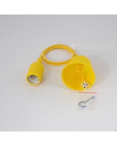Hanglamp met siliconen fitting Geel