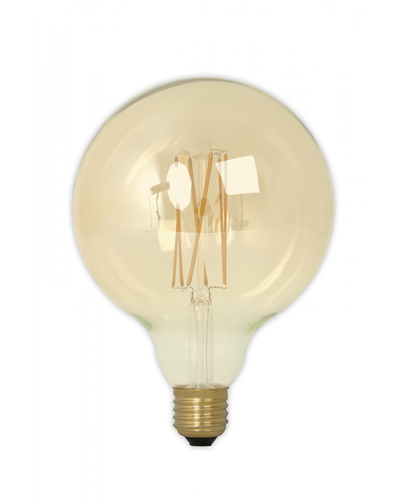 LED Dimbare Filament Globelamp GOLD 4W 320lm E27 GLB125 Kooldraad Look