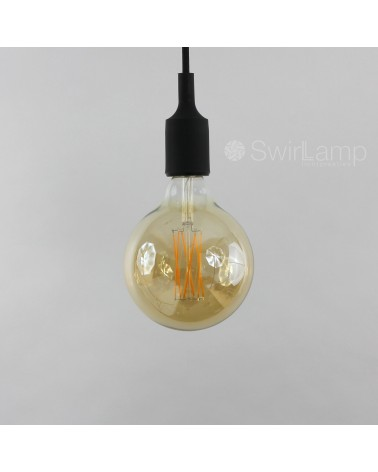 LED Dimmable Filament Globe Bulb GOLD 4W 320lm E27 GLB125 Carbon Filament Look