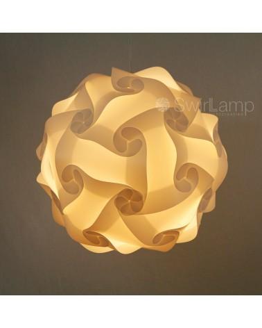 Swirlamp XL 50cm Witte lampenkap