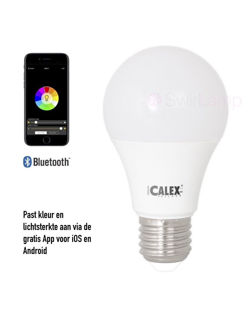 Calex LED A60 Multicolour Hue RGBW lamp bluetooth iOS/Android