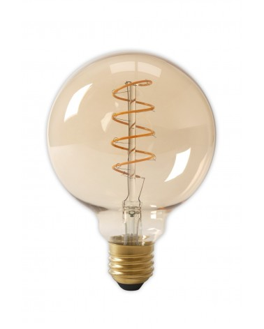 Flex LED Dimbare Filament Globelamp GOLD 4W 200lm E27 GLB125 Kooldraad Look