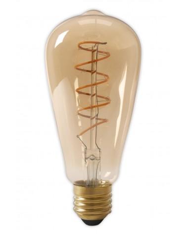LED Dimbare Flex Filament Rustieklamp 4W 200lm E27 Gold 2100K