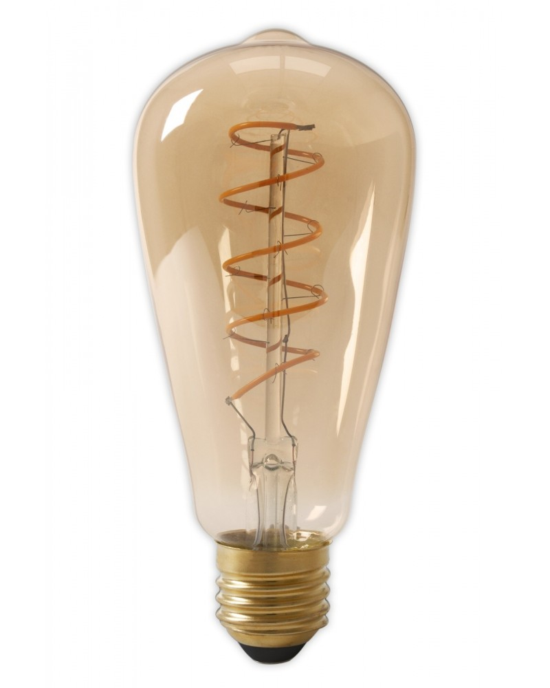 LED Dimmable Flex Filament Rustic Bulb 4W 200lm E27 Gold 2100K