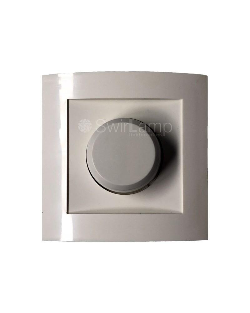 LED inbouwdimmer Calex 3-150W voor dimbare LED lampen + afdekplaat en draaiknop WIT