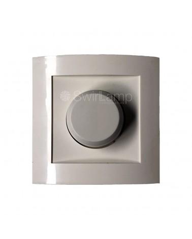LED inbouwdimmer Calex 3-70W voor dimbare LED lampen + afdekplaat en draaiknop WIT
