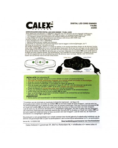 LED Built-In Trailing Edge Dimmer Calex 3-150W for dimmable LED lights