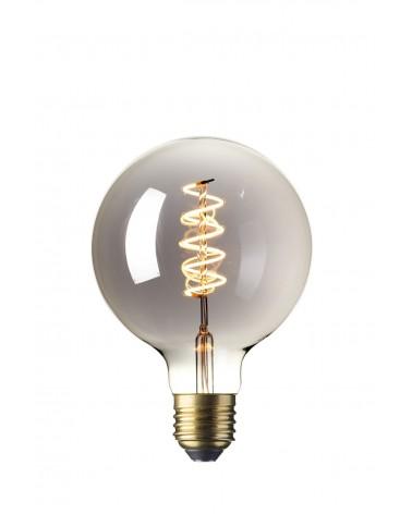 LED Dimbare Flex Filament Globelamp 4W GLB125 Titanium E27
