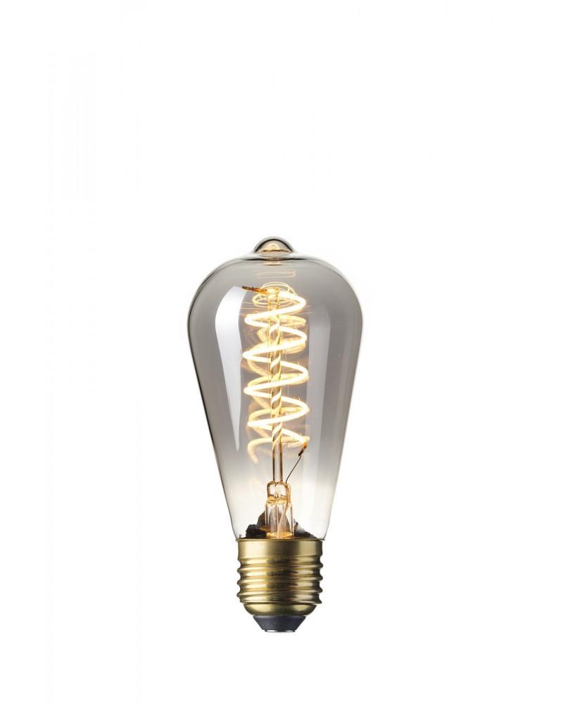 LED DimmableFlex Filament Rustic Bulb 4W 200lm E27 Titanium